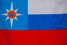 "Флаг ""МЧС России"" триколор фото"