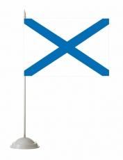 Флажок настольный Андреевский флаг фото