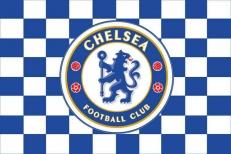 Флаг ФК Челси клетка фото