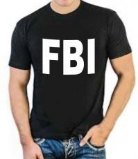 """Футболка стрейч """"FBI"""" фото"""