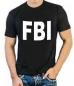 """Футболка стрейч """"FBI"""" фотография"""