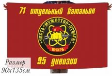 """Флаг Спецназ ВВ 71 отдельный батальон """"Вихрь"""" фото"""