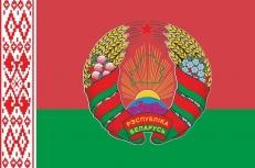 Флаг Республики Беларусь с гербом фото