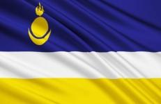 Двухсторонний флаг Республики Бурятия фото