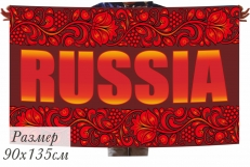 Флаг Russia с русским орнаментом фото