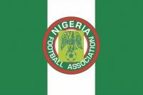 "Флаг Нигерии с эмблемой ""Ассоциации футбола Нигерии"""