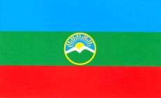 Флажок Республики Карачаево-Черкесия на палочке фото
