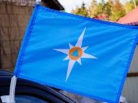 Флаг на машину с кронштейном МЧС Чистый