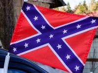 Флаг на машину с кронштейном Конфедерация