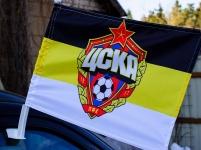 Флаг на машину с кронштейном ЦСКА Имперский