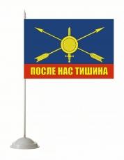 Флажок настольный РВСН с девизом 2 фото