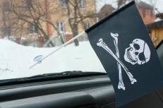 Флажок в машину Пиратский с повязкой фото