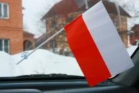 Флажок в машину с присоской Польша