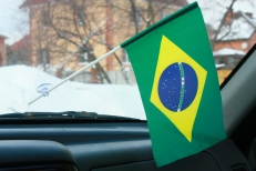 Флажок в машину Бразилия фото