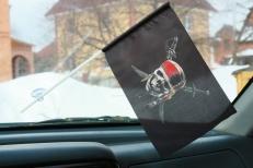 Флажок в машину с присоской Веселый Роджер фото
