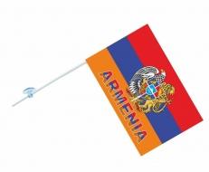 Флажок в машину Армения с надписью фото