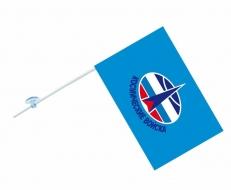 Флаг на машину с кронштейном «Космические войска» фото