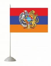 Настольный флаг Армении с гербом фото