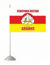 Флажок настольный «Флаг Республики Северная Осетия с гербом» фото
