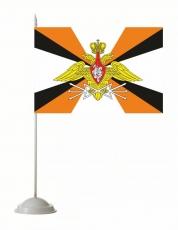 Флажок настольный «Войска связи» с эмблемой фото
