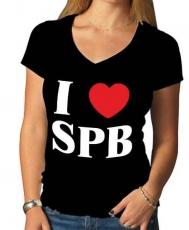"""Футболка женская """"I love SPB"""" фото"""