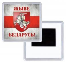 "Магнитик ""Погоня"" ""Жыве Беларусь!"" фото"