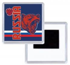 Магнитик RUSSIA с медведем фото