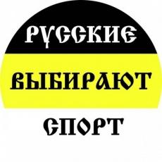 Наклейка Имперский флаг «Русские выбирают спорт» фото