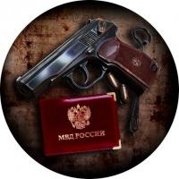 Наклейка «МВД России»