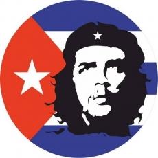 Наклейка с флагом Кубы «Че Гевара» фото