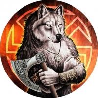 Наклейка «Коловорот волк»