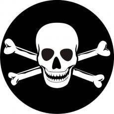 Наклейка «Флаг Пиратский» фото