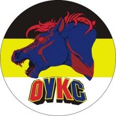 Наклейка для болельщиков «ФК ЦСКА» на имперском флаге ОУКС фото