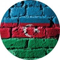 Наклейка «Флаг Азербайджана»