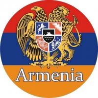 Наклейка «Флаг Армении» с гербом
