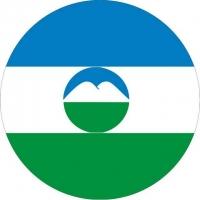 Наклейка «Флаг Кабардино-Балкарии»