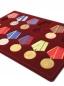 Планшет на 12 медалей с пятиугольной колодкой фотография