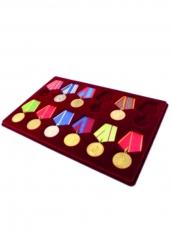 Планшет на 12 медалей с пятиугольной колодкой