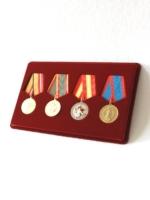 Планшет на 4 медали с пятиугольной колодкой