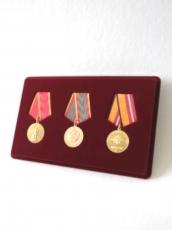 Планшет на 3 медали с пятиугольной колодкой фото