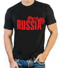 """Футболка стрейч """"Russia"""" фото"""