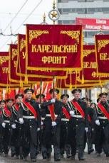 Штандарт фронта Великой Отечественной войны с бахромой для Парада на день Победы фото