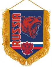 Сувенирный вымпел RUSSIA с медведем фото