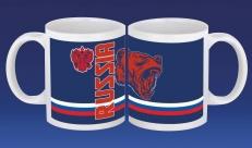 Подарочная кружка RUSSIA с медведем фото