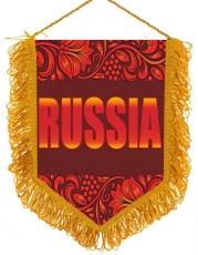 Вымпел RUSSIA с русским орнаментом фото