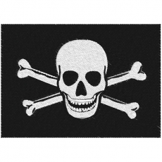 Байкерская нашивка «Череп с костями» фото