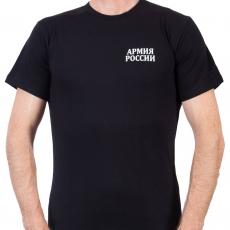 Черная футболка «Армия России» фото