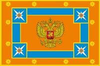 Двухстороннее знамя МЧС России