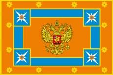 Двухстороннее знамя МЧС России фото
