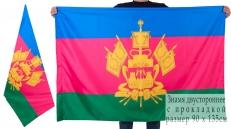 Двухстороннее знамя Краснодарского края фото